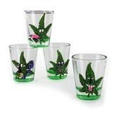 Bicchieri da shot Cannabud (4 pezzi)