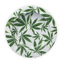 Metal Ashtray With Cannabis Leaves