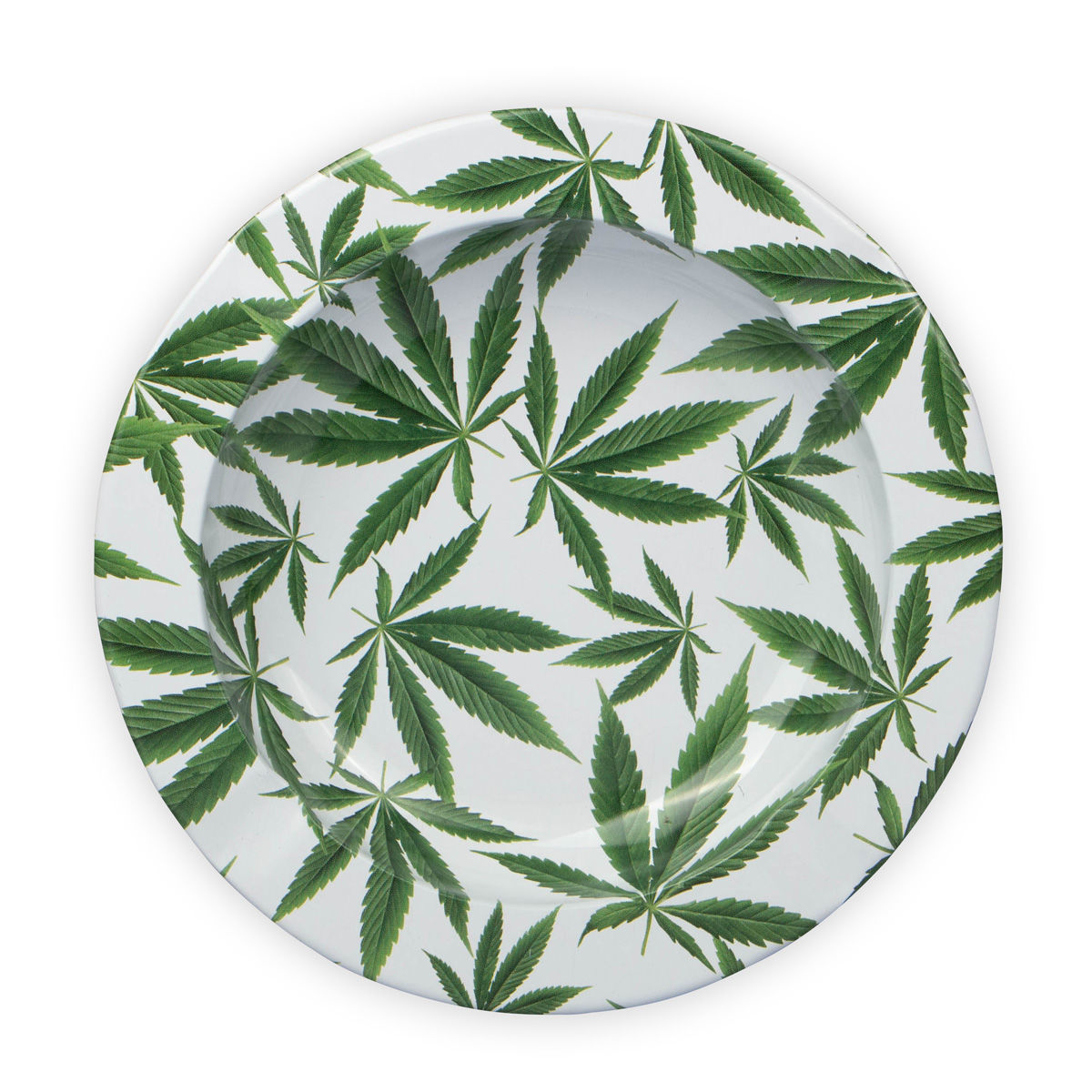 Ashtray cannabis leaf pattrrn