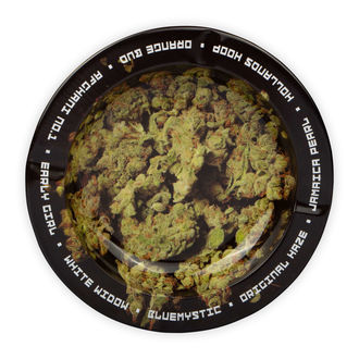 Metallaschenbecher Mit Cannabis-Buds