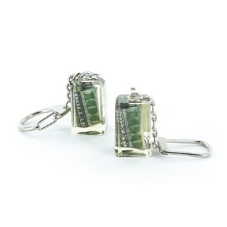 Acrylic Keyring with Money