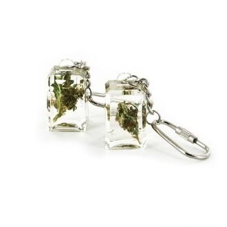 Acryl Schlüsselanhänger mit Gras