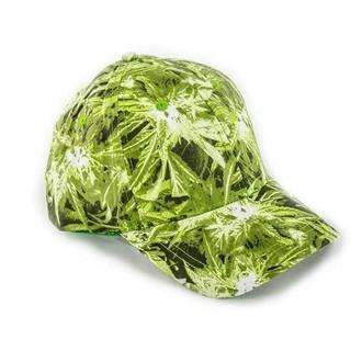 Baseball Cap Cannabis Print