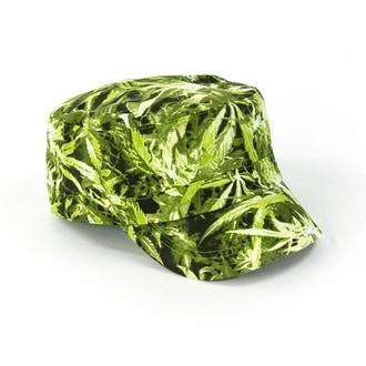 Militär Kappe Cannabis Aufdruck