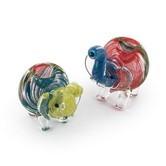 Pipa in vetro colorato a forma di elefante