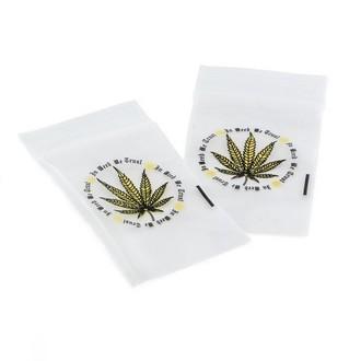 Zip Lock Beutel 'In Weed We Trust'