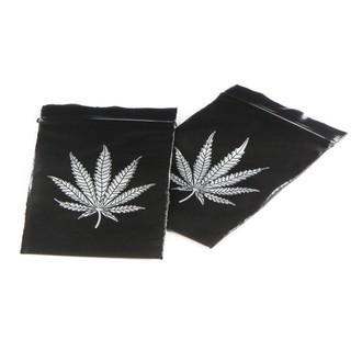 Zip Bags Black with Leaf