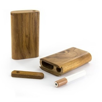Dugout Pipe Teak Slider Small