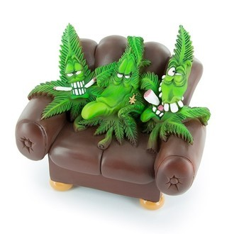 Stashbox/Aschenbecher CannaBuds Sofa