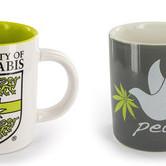Kaffeebecher mit Hanfmotiv