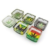 Glass Ashtray MJ Leaf