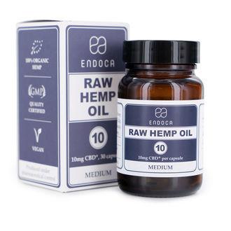 Endoca Raw Hemp Oil Capsules (3% CBD + CBDA)