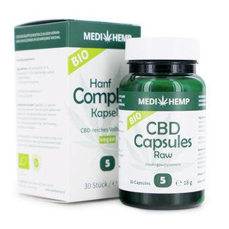 Medihemp Hanfsamenölkapseln (5% CBD/CBDA)