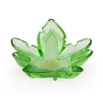 Glass Ashtray Leaf