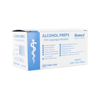 Alkoholische Desinfektionstücher (100 Stk.)