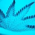Silly Silikon-Kuchenform Weed-Blatt