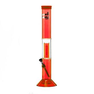 Red Acrylic Percolator Bong Bud Boy