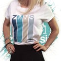 Retro Rolled Sleeve T-Shirt   Women