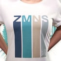 Retro T-Shirt mit gerollten Ärmeln | Damen