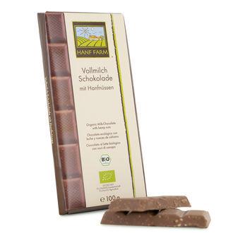 Biologische Milchschokolade mit Hanfnüssen
