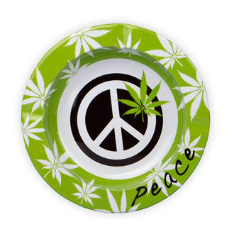 Metallische Aschenbecher Peace