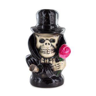 Keramik Bong Totenkopf mit schwarzem Hut