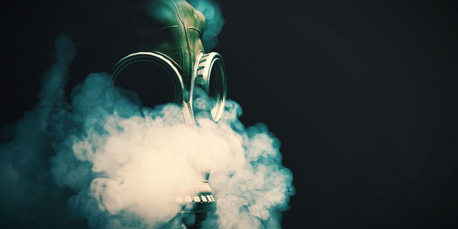 Cannabis Rauchen Gasmaske