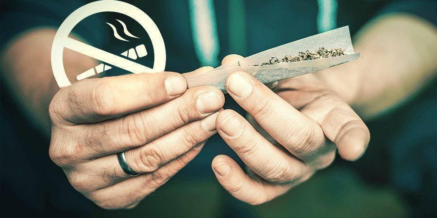 Rauche Die Cannabisstängel Nicht