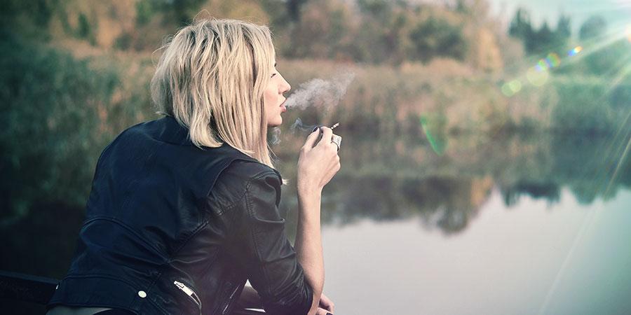 rauche ausserhalb der sicht von anderen