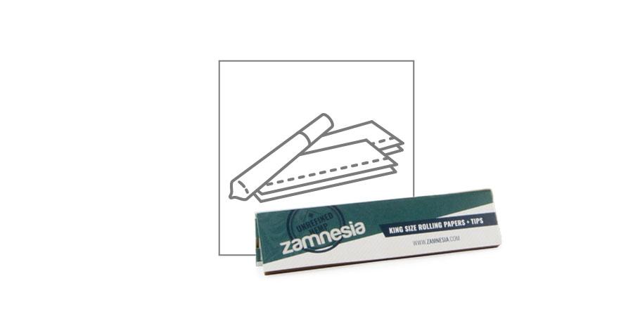 Zamnesia Hanf-Drehblättchen King Size + Filtertips
