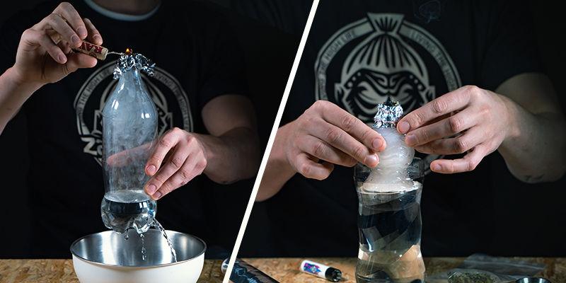 Die zwei unterschiedlichen Arten von Schwerkraft-Bongs