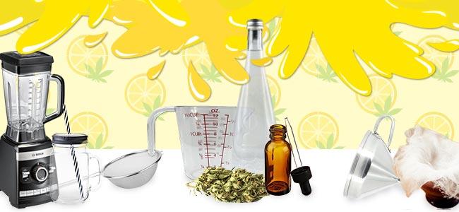 Cannabislimonade - WAS DU BENÖTIGST