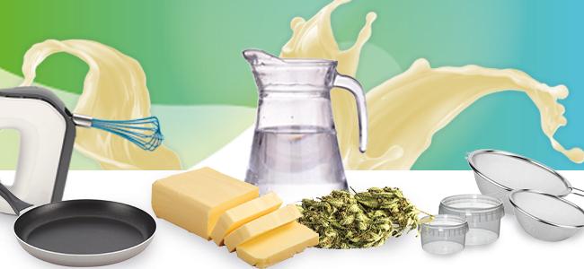 Zutaten Cannabis Butter