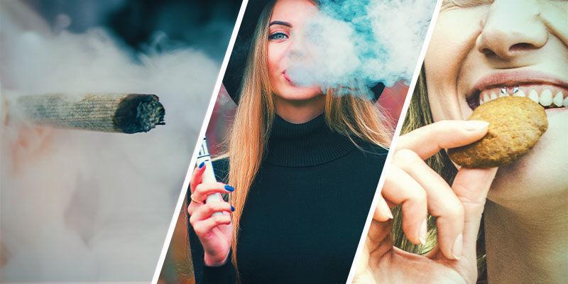 Macht es einen Unterschied, ob man zu viel Cannabis raucht, verdampft oder isst?