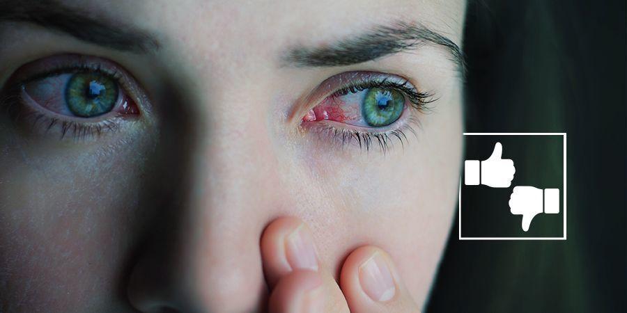 Sind rote Augen schlimm? cannabis