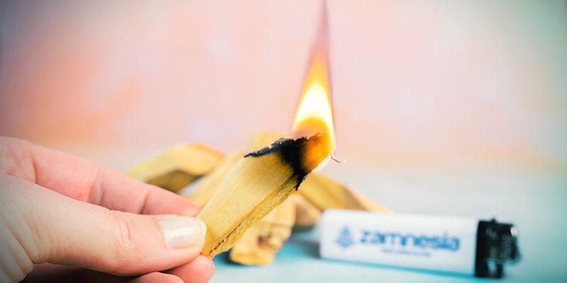 Wie man Palo-Santo-Räucherstäbchen verbrennt