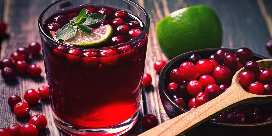 Bongwasseralternativen: Cranberrysaft