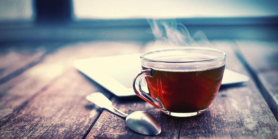 Bongwasseralternativen: Heißer Tee