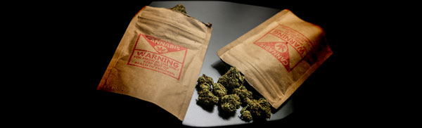 Verpackte kontaminierte Cannabis