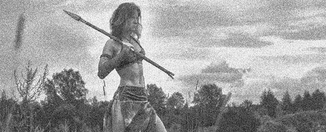 Eine kämpfende Skythenfrau