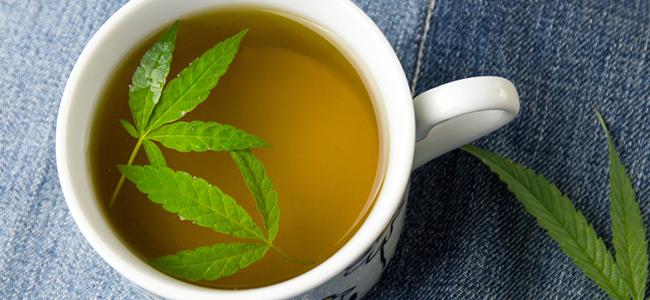Grasstängel Tee