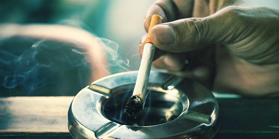 Kein Rauch oder stinkende Aschenbecher