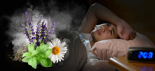 Verdampfen Von Kräutern Und Schlaflosigkeit