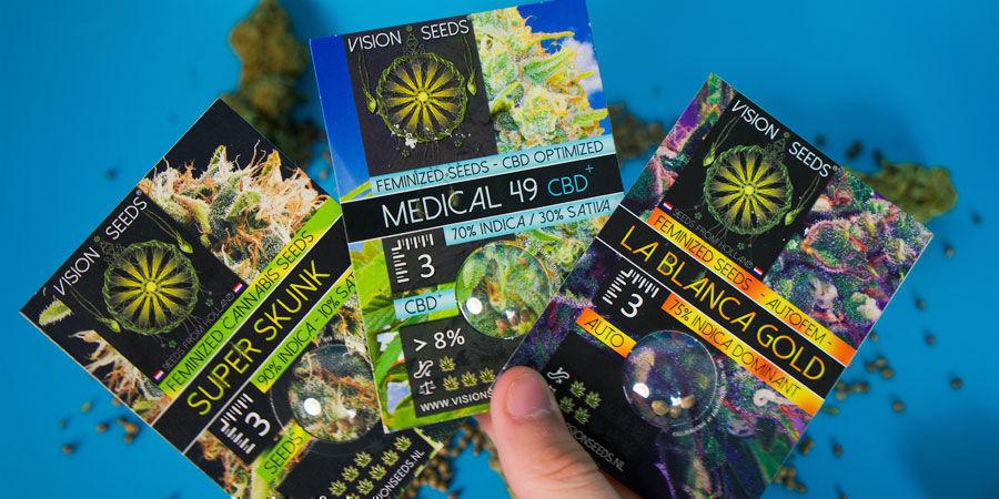 Wie Werden Die Cannabissamen Von Vision Seeds Verpackt?