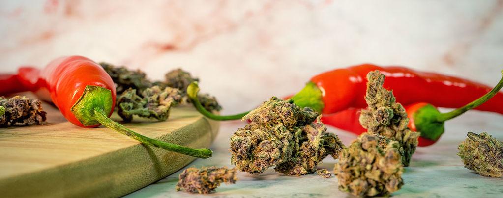 Cannabis und Cayennepfeffer