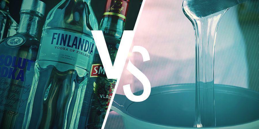 Die Wahl zwischen hochprozentigem Alkohol und Glycerin