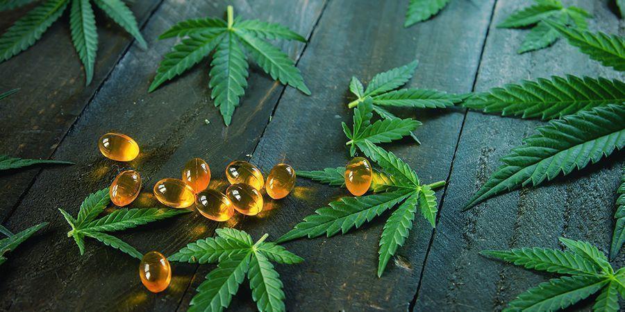 THC-Pillen Von Cannabisblättern