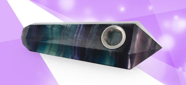 Mystique Crystal Pipe – Fluorite