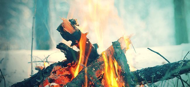 ein offenes Feuer