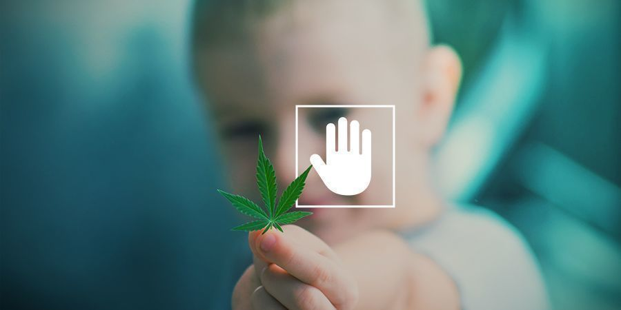 Never consume cannabis in front of your kids